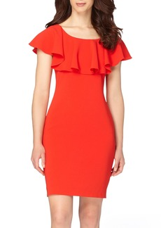 Tahari Ruffle Body-Con Dress (Regular & Petite)