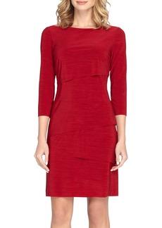 Tahari Ruffle Jersey Sheath Dress (Regular & Petite)