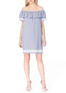 Tahari Ruffle Shift Dress