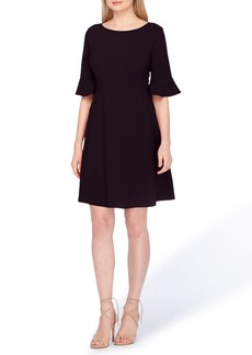 Tahari Ruffle Sleeve A-Line Dress (Regular & Petite)