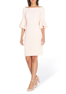 Tahari Ruffle Sleeve Sheath Dress