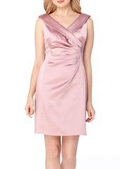 Tahari Satin Sheath Dress (Regular & Petite)