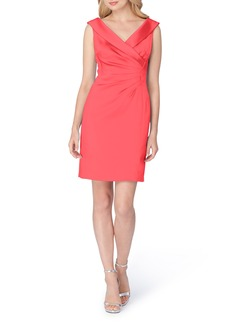 Tahari Satin Sheath Dress (Regular & Petite)