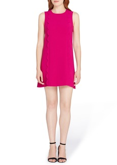 Tahari Scallop Detail Shift Dress