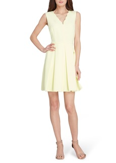 Tahari Scallop Fit & Flare Dress
