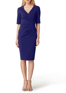 Tahari Scuba Crepe Sheath Dress (Regular & Petite)