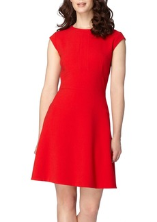 Tahari Seamed Crepe Fit & Flare Dress (Regular & Petite)