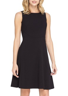 Tahari Seamed Knit Fit & Flare Dress