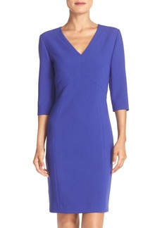 Tahari Seamed Stretch Sheath Dress (Online Only)