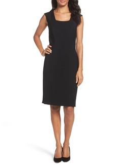 Tahari Seamed Stretch Sheath Dress (Regular & Petite)