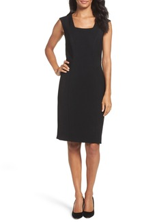 Tahari Seamed Stretch Sheath Dress (Regular & Petite)