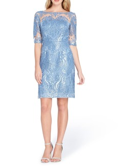 Tahari Sequin Sheath Dress