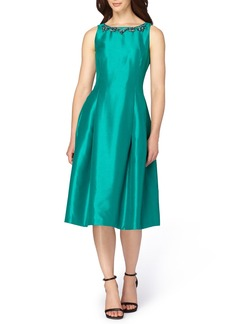 Tahari Shantung Midi Dress