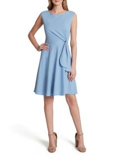 Tahari Side Tie Fit & Flare Dress
