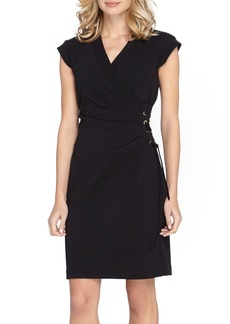 Tahari Side Tie Scuba Sheath Dress