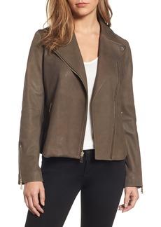 Tahari Skylar Leather Moto Jacket