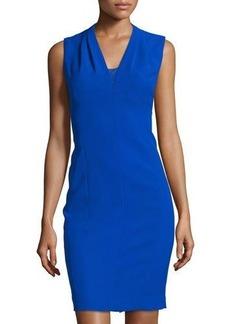 Tahari Sleeveless Lace-Detail Sheath Dress