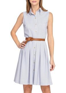 Tahari Sleeveless Seersucker Shirtdress (Petite)