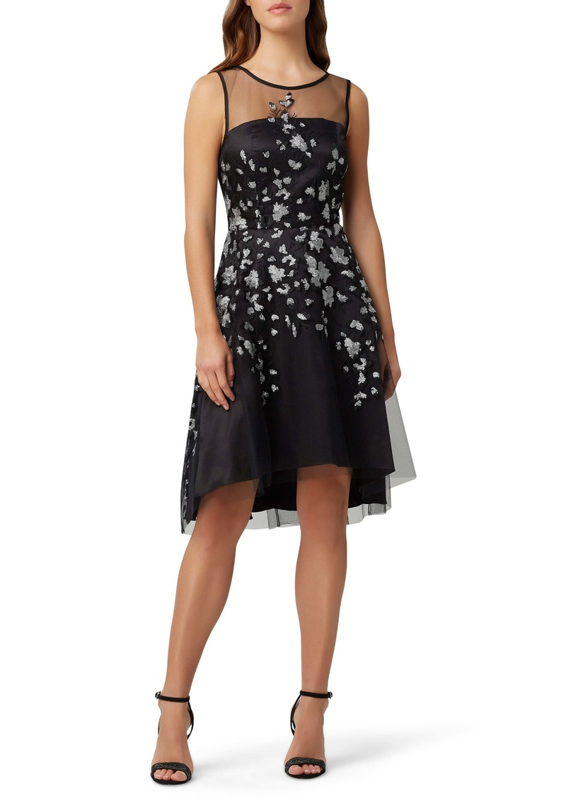 Tahari Sleeveless Sequin Embroidered Fit & Flare Dress