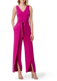 Tahari Sleeveless Split Leg Jumpsuit