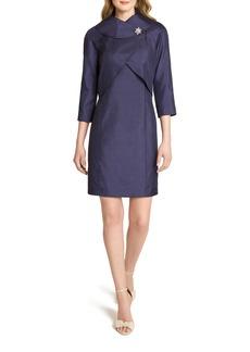 Tahari Sleeveless Wrap Jacket & Sheath Dress