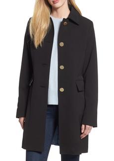 Tahari Sophie Back Pleat Crepe Coat