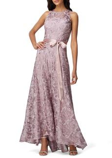 Tahari Soutache Sleeveless A-Line Gown