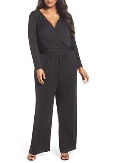 Tahari Sparkle Jersey Jumpsuit (Plus Size)