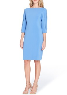 Tahari Split Sleeve Midi Sheath Dress