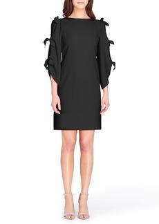 Tahari Split Tie Sleeve Shift Dress
