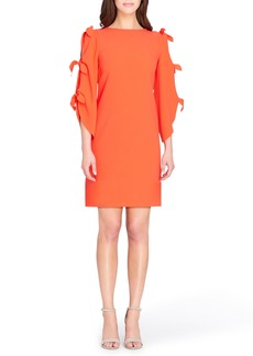 Tahari Split Tie Sleeve Shift Dress