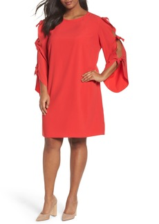 Tahari Split Tie Sleeve Shift Dress (Plus Size)