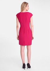 Tahari Square Neck Sheath Dress