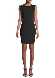Tahari Stefana Cap-Sleeve Sheath Dress