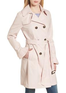 Tahari Stella Ruffle Sleeve Trench Coat