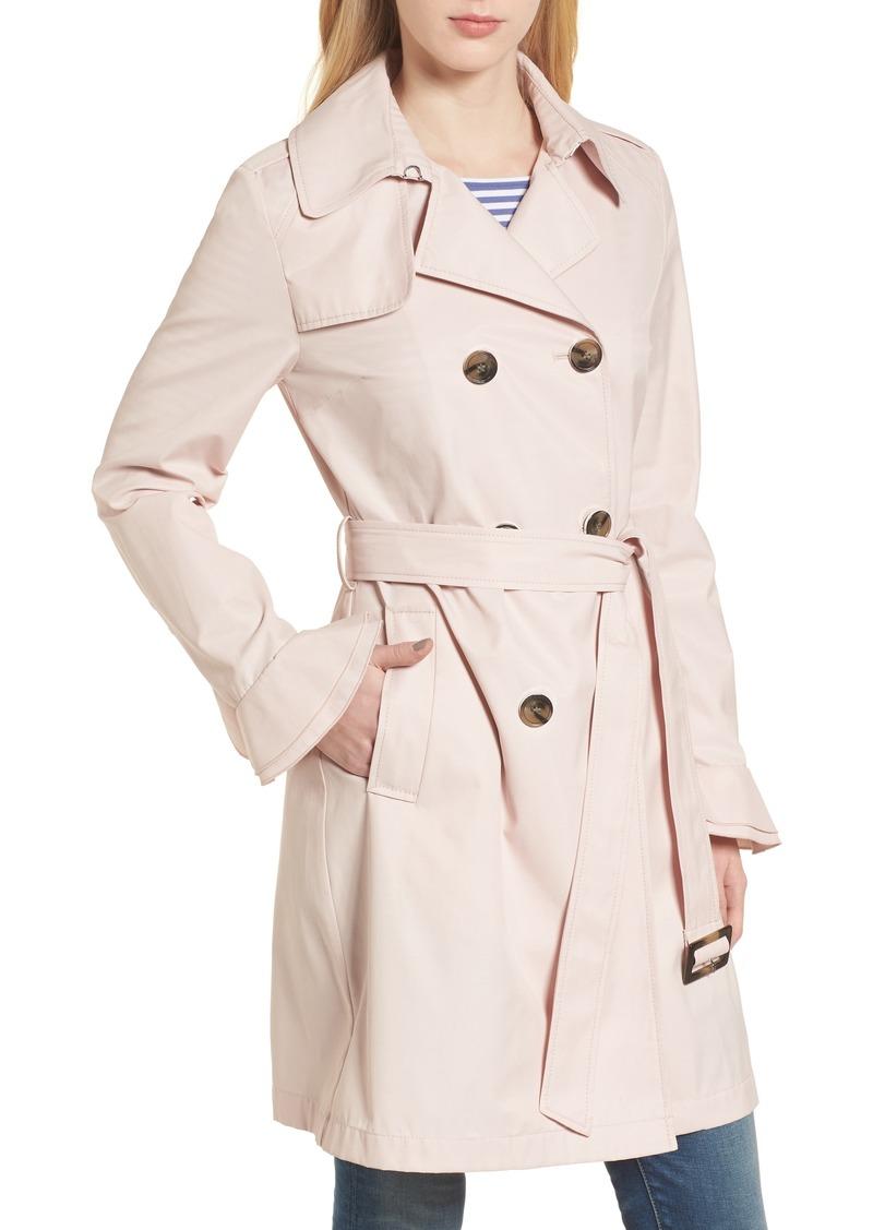 5a1c379f59c Tahari Tahari Stella Ruffle Sleeve Trench Coat