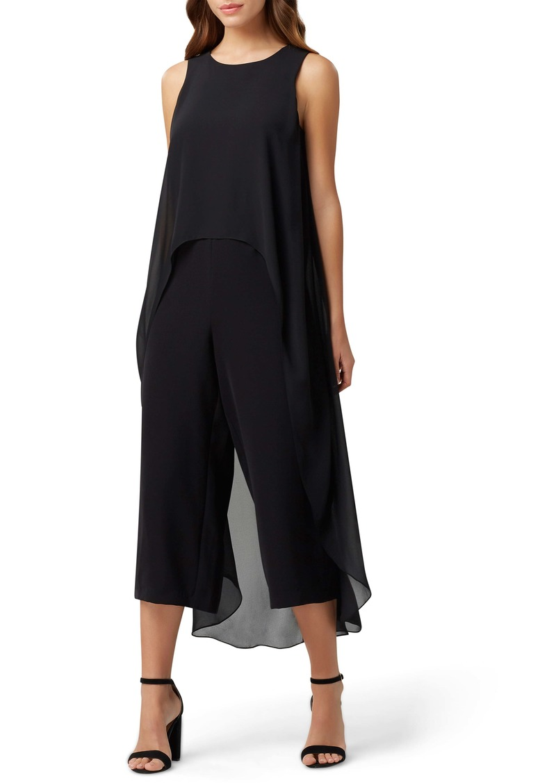 Tahari Stretch Crepe Jumpsuit