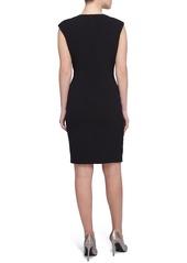 Tahari Stretch Crepe Sheath Dress (Regular & Petite)