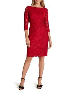 Tahari Stretch Lace Sheath Dress