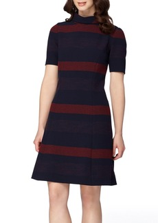 Tahari Stripe A-Line Dress