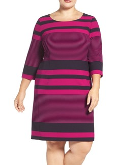 Tahari Stripe Sheath Dress (Plus Size)