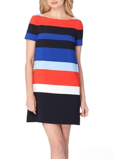 Tahari Stripe Shift Dress (Regular & Petite)