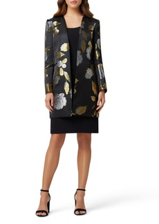 Tahari Tank Dress with Brocade Jacket