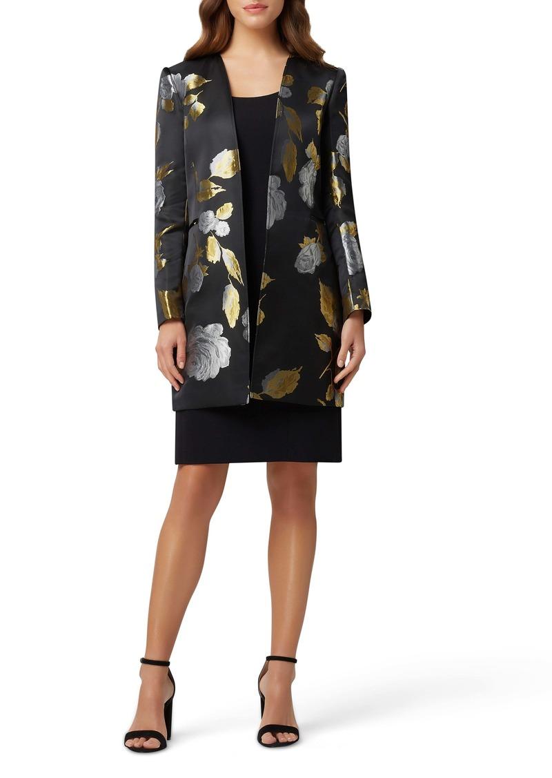 Tahari Tank Dress with Brocade Jacket