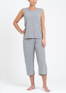Tahari Tank Top and Capri Pant Pajama Set, Online Only