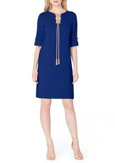 Tahari Tassel Shift Dress