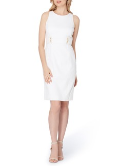 Tahari Textured Knit Sheath Dress (Regular & Petite)