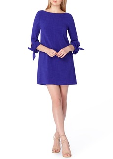 Tahari Tie Sleeve A-Line Dress