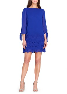 Tahari Tie Sleeve Shift Dress