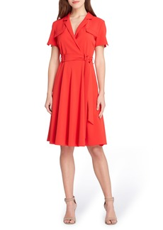 Tahari Tie Waist Shirtdress (Regular & Petite)